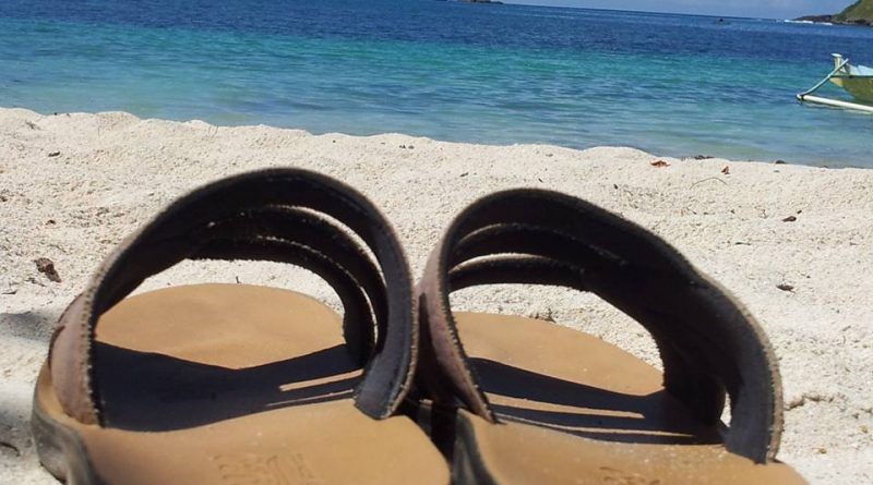 Shoes at the Beach in Lombok